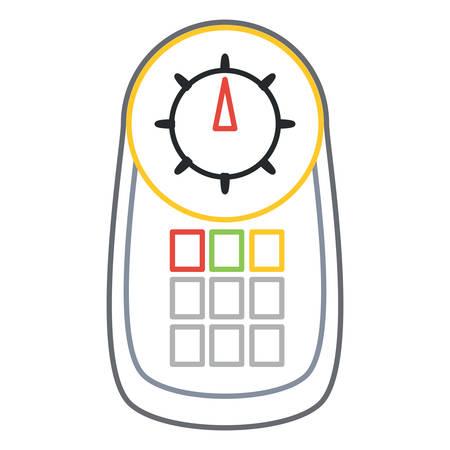 car diagnostic scanner device icon over white background colorful design vector illustration