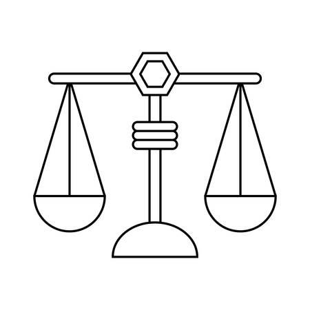 weegschaal pictogram over witte achtergrond vectorillustratie