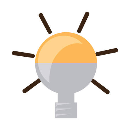 light bulb icon over white background vector illustration Vectores