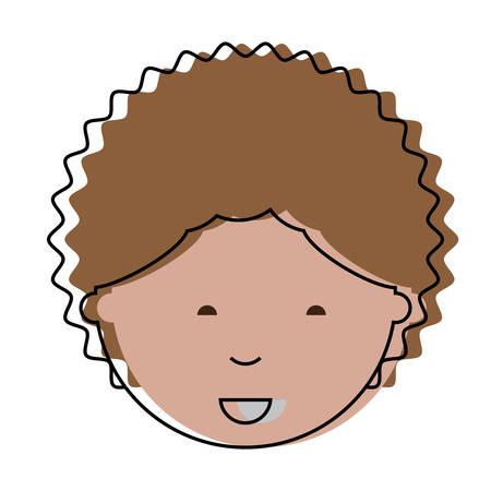 Cartoon man face icon vector illustration