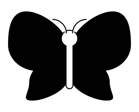 Beautiful butterfly icon over white illustration. Illustration