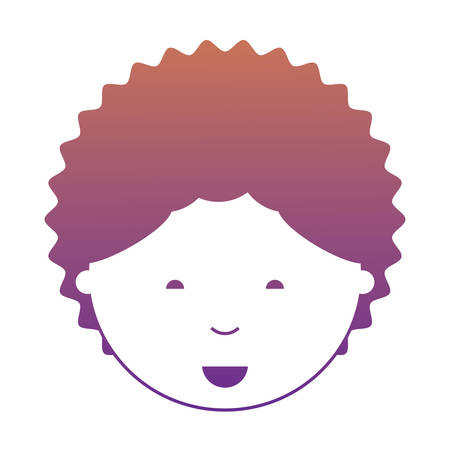 cartoon man face smiling  icon over white background colorful design vector illustration Vettoriali
