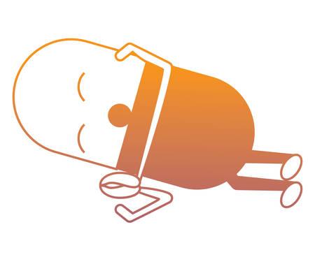 Sleepy pill icon over white background vector illustration
