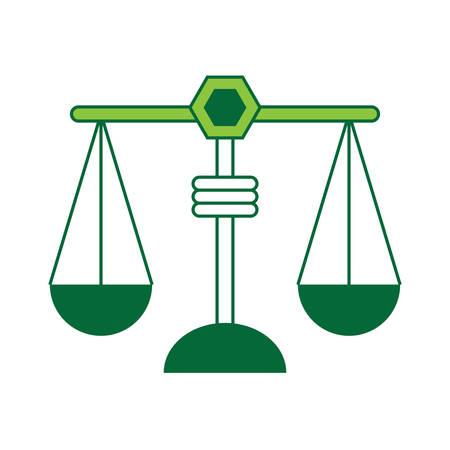 Weight scale icon over white background colorful design vector illustration. Ilustração