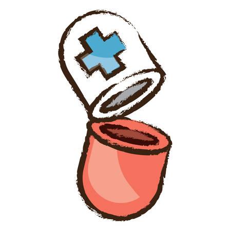 pill icon over white background colorful design vector illustration
