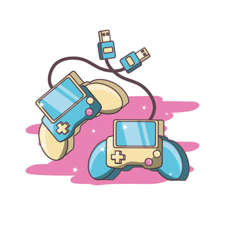 video game controllers vector illustration graphic design
