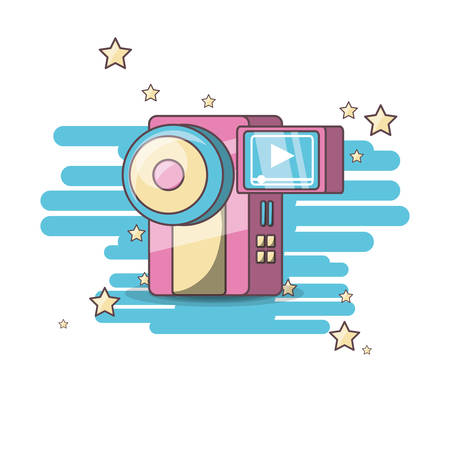 camera device downloading pictures to the computer vector illustration graphic design