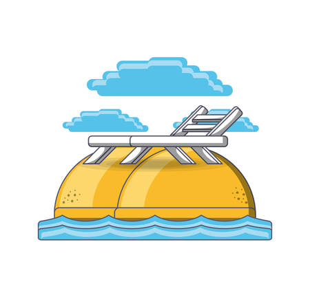 A beach chair summer holiday vacation vector illustration graphic design