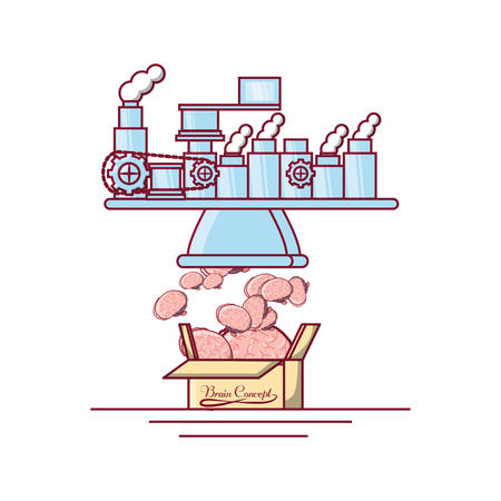 Brains factory icon. Illustration