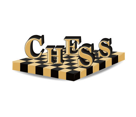 chess board design over white background vector illustration Illustration