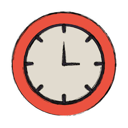 colored  clock  over withe  background  vector  illustration