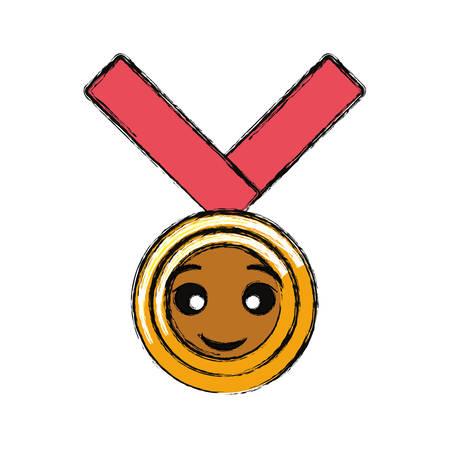 colored  medal of honor over backgorund vector illustration Vettoriali