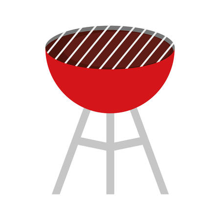 colorful barbecue grill over white background  vector illustration Illustration