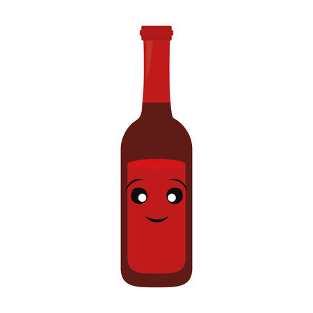 colorful beer bottle over white background vector illustration