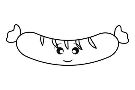 sausage icon over white background vector illustratio