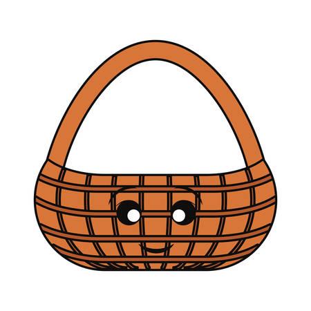 picnic basket icon over white background colorful design vector illustration Illustration