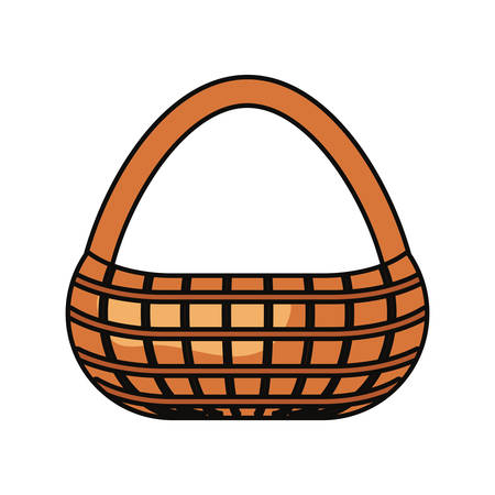 picnic basket icon over white background colorful design vector illustration 向量圖像