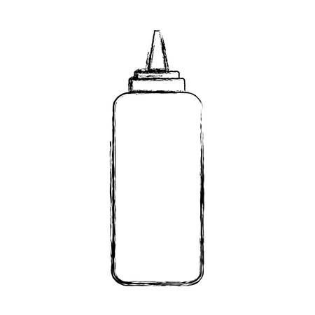 sauce bottle icon over white background vector illustration