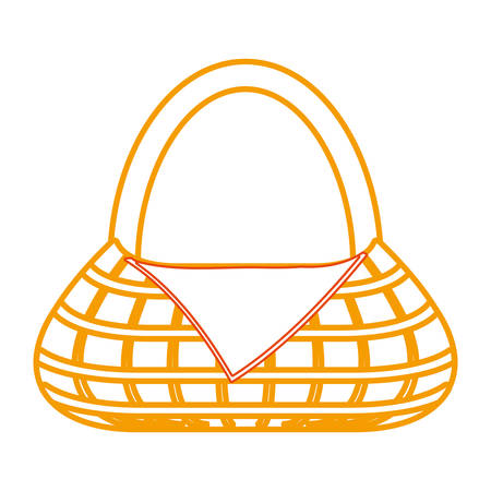 picnic basket icon over white background colorful design vector illustration Vectores