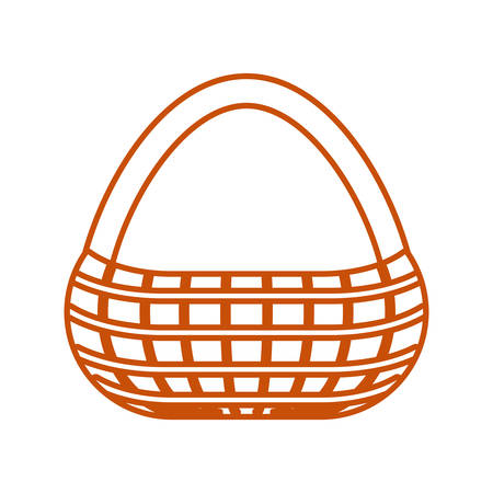 picnic basket icon over white background colorful design vector illustration Illustration