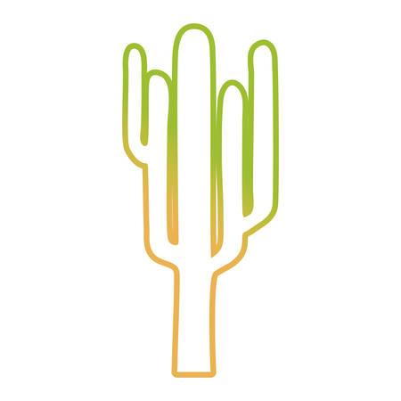 Cactus plant icon over white background colorful design vector illustration.