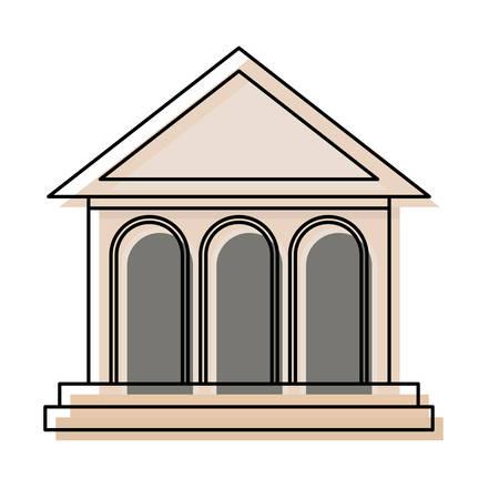 Bank building icon Stock Illustratie