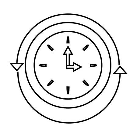 Service en ondersteuning voor klanten de klok rond en 24 uur vector illustratie