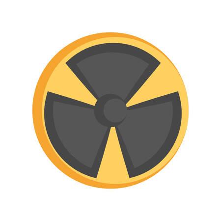 Nuclear danger symbol cartoon vector illustration graphic icon
