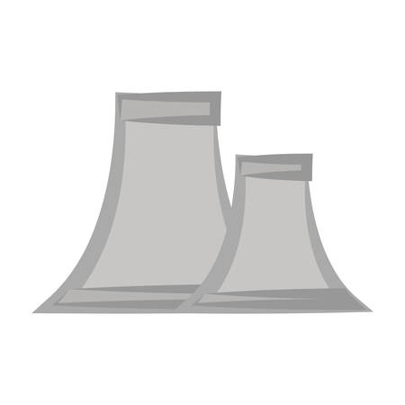 Nuclear plant symbol cartoon vector illustration graphic icon