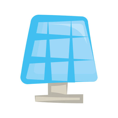 Solar panel energy cartoon vector illustration graphic icon