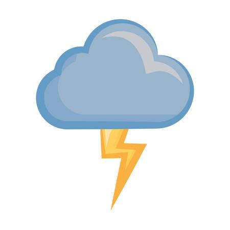 Rainy weather symbol cartoon Illustration