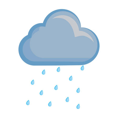 Wolk weer symbool cartoon Stock Illustratie
