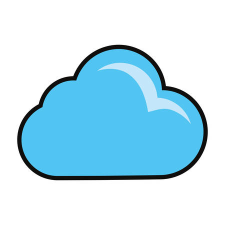 Cloud weather symbol cartoon vector illustration graphic icon.