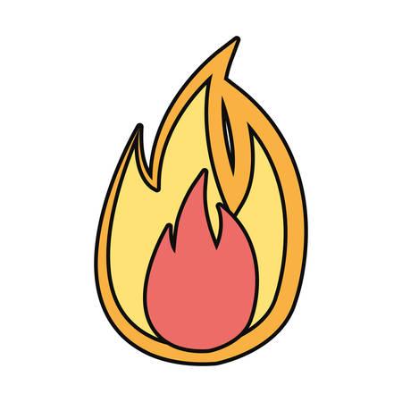 flame fire symbol cartoon vector illustration graphic icon