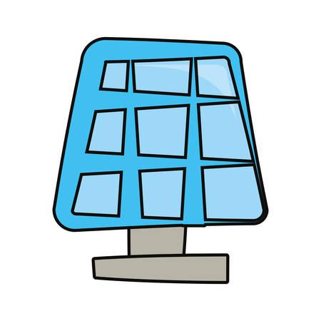 Icona del grafico dell'illustrazione di vettore del fumetto di energia del pannello solare Archivio Fotografico - 92578213