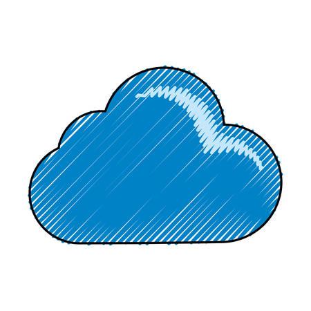 Cloud weather symbol cartoon vector illustration graphic icon Çizim