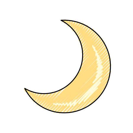 Moon quarter waning cartoon