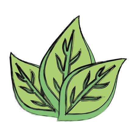 Leaves eco symbol cartoon