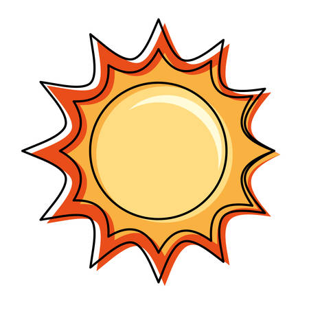 Sun isolated symbol cartoon