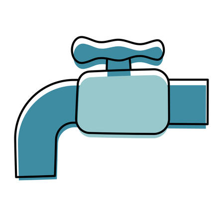Water faucet isolated cartoon