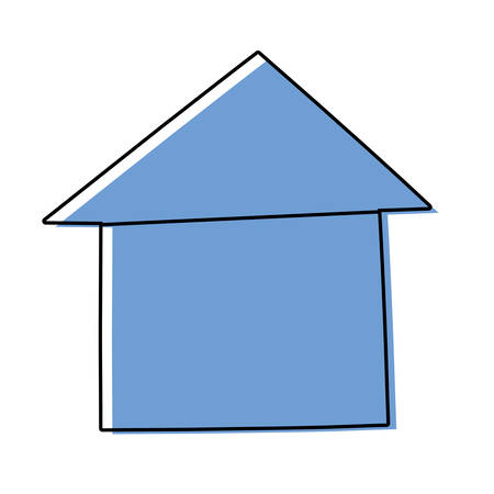 House real estate symbol cartoon illustration graphic icon.