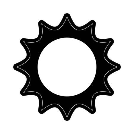 Sun isolated symbol cartoon vector illustration graphic icon.