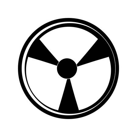 Nuclear danger symbol cartoon vector illustration graphic icon. Illustration