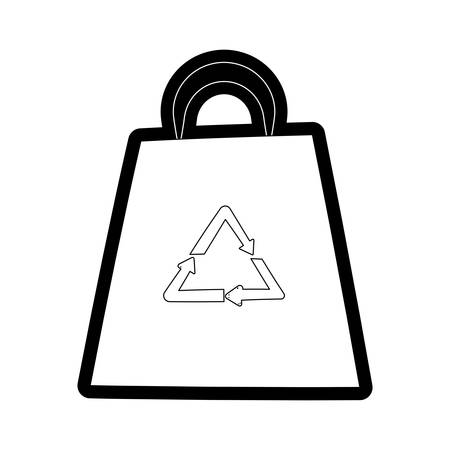 Recyclable bag isolated cartoon vector illustration graphic icon. Vectores