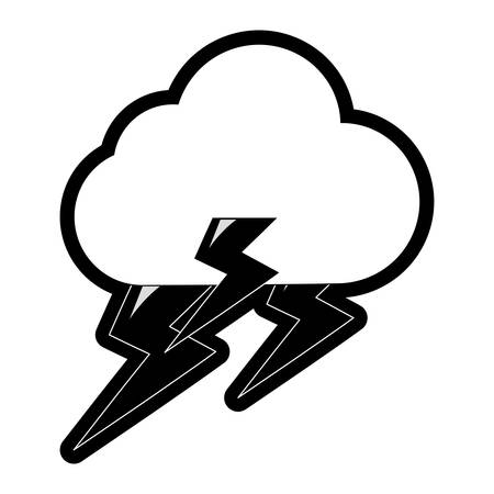 Rainy weather symbol cartoon Illustration