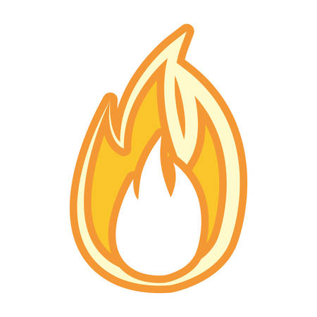 Flame fire symbol cartoon vector illustration graphic icon.