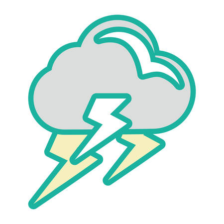 Rainy weather symbol cartoon vector illustration graphic icon.