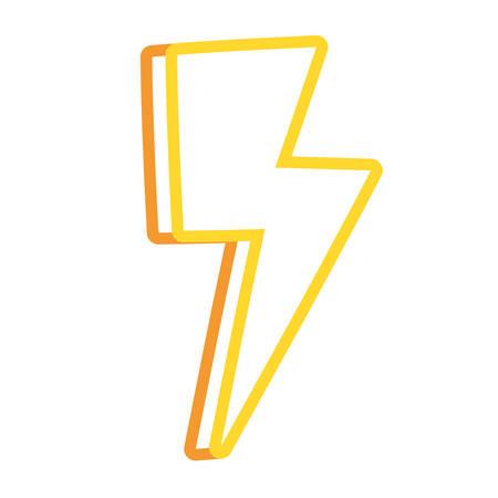 Ray energy symbol cartoon vector illustration graphic icon Illustration