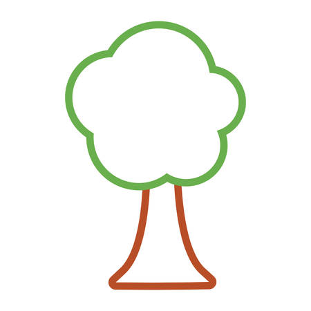 Tree nature symbol cartoon vector illustration graphic icon. Illustration