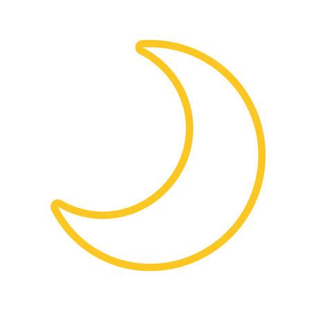 Moon quarter waning cartoon vector illustration graphic icon Illustration